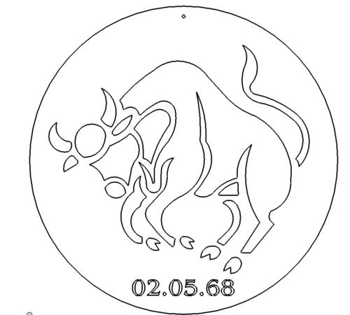 Stier Schild - Taurus sign