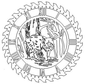 Sawblade Clock Luchs