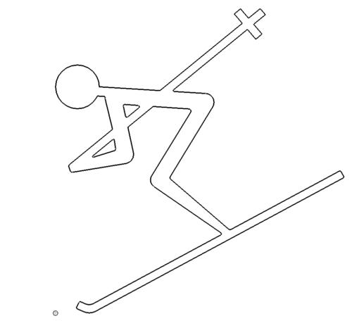 Skifahren Symbol - skiing icon