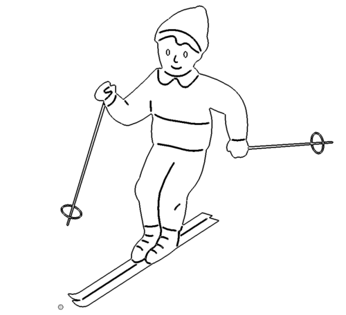 Skifahrer Abfahrt - skier downhill