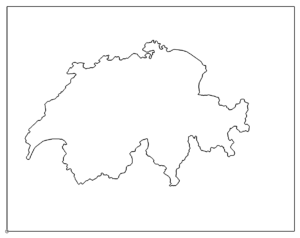 Landkarte Schweiz - map Switzerland