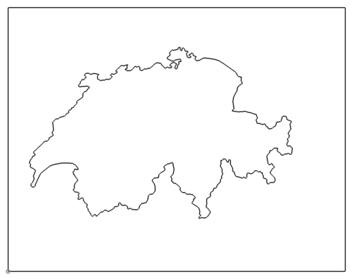 Landkarte Schweiz - map Switzerland