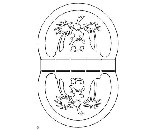 Serviettenhalter Krippe - Serviettenhalter crib