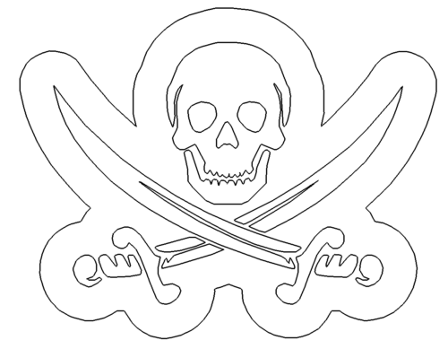 Totenkopf mit Schwertern - Skull with swords