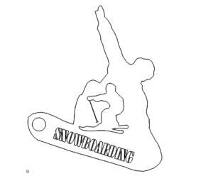 Snowboarden Schild
