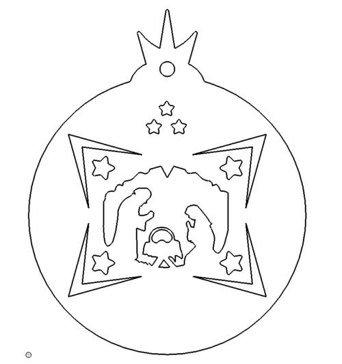 Stern mit Krippe - Star with crib
