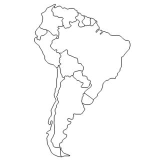 Landkarte Südamerika - Map Southamerica