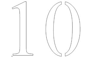 Zahl 10 - Number 10