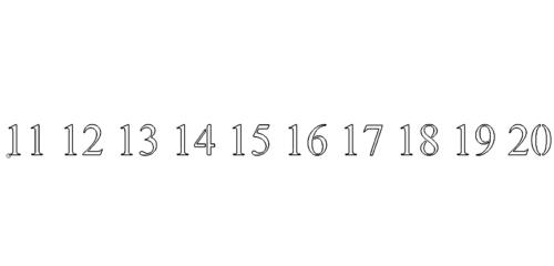 Zahl 11-20 - Number 11-20
