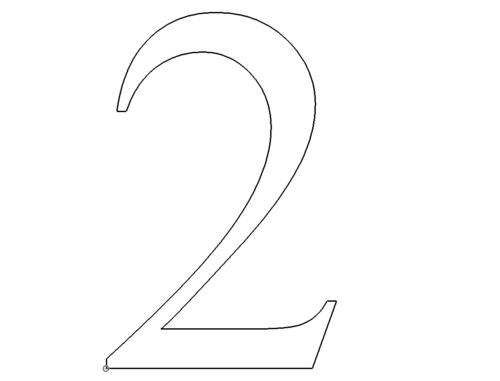 Zahl 2 - Number 2