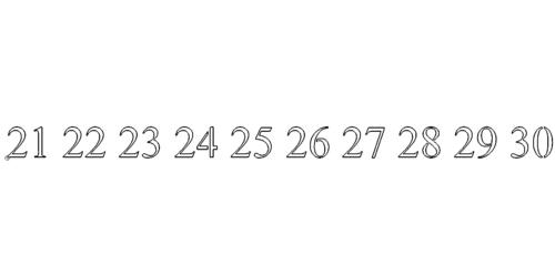 Zahl 21-30 - Number 21-30