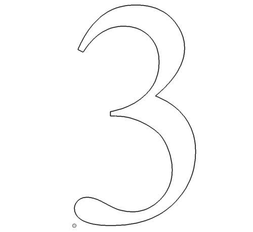 Zahl 3 - Number 3