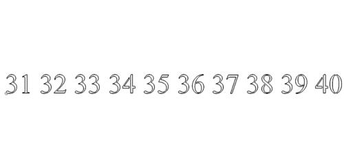 Zahl 31-40 - Number 31-40