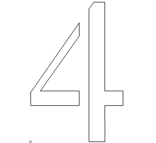 zahl 4  number 4  das download portal für dxf dwg dateien