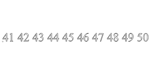 Zahl 41-50 - Number 41-50