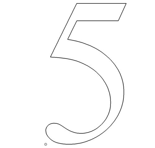 Zahl 5 - Number 5