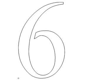 Zahl 6 - Number 6