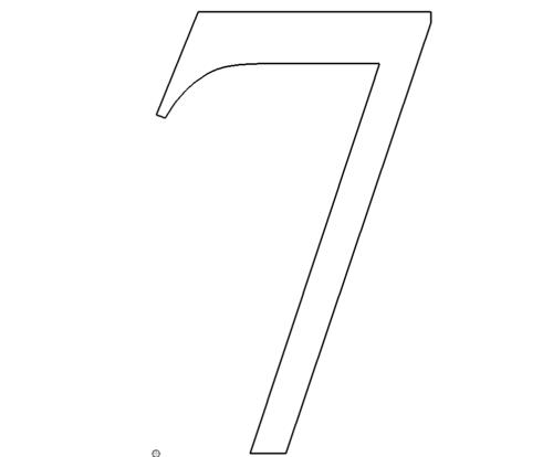 Zahl 7 - Number 7