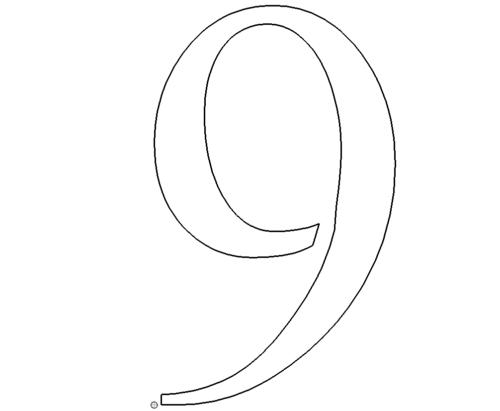 Zahl 9 - Number 9