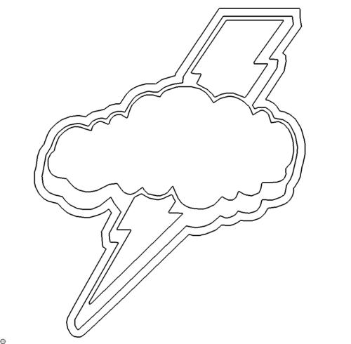 Wolke und Blitz - Cloud and Lightning