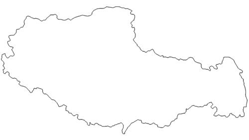 Landkarte Tibet - Map Tibet