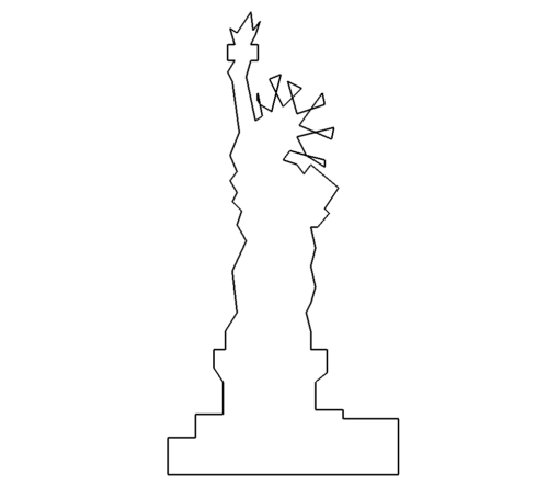 Freiheitsstatue - statue of Liberty