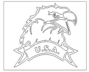 USA Adlerkopf - USA Eagle Head