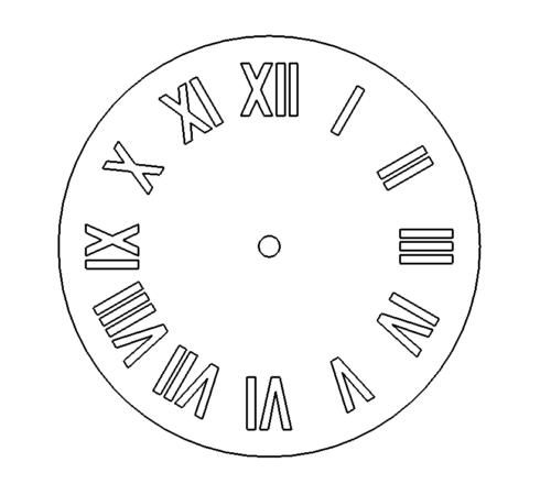 Uhr mit Römischen Zahlen