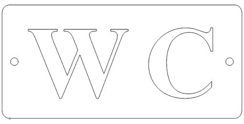 WC Hinweisschild - WC sign