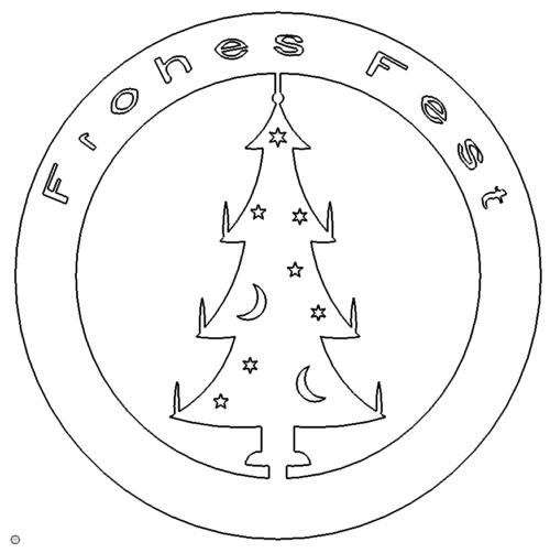 Weihmarke Frohes Fest - Weihmarke Merry Christmas