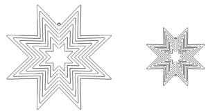 Windspiele Sterne - Windgames Stars