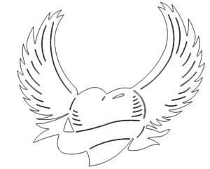 Herz mit Flügeln - Heart with Wings