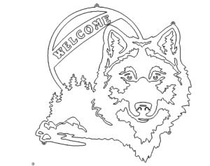 Wolf im Mondlicht Welcome - Wolf in the Moonlight Welcome