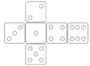Würfel 3D Modell - Cube 3D model