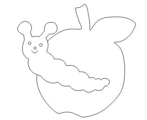 Wurm im Apfel - Worm in the apple