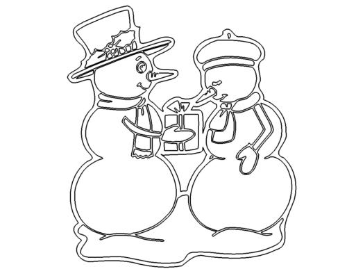 Zwei Schneemänner - Two Snowmen