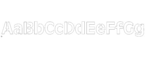 Laserfähige Schneidfertige Buchstaben A-G mit Stege