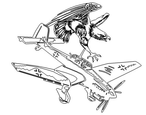 Adler Flugzeug - Eagle Airplane