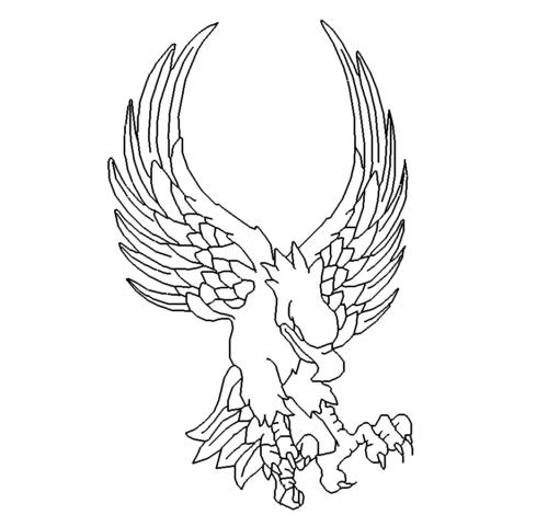 Angreifender Adler - Attacking Eagle