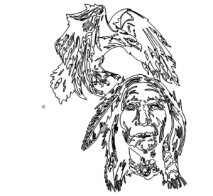 Adler Indianer - Eagle with Indianer