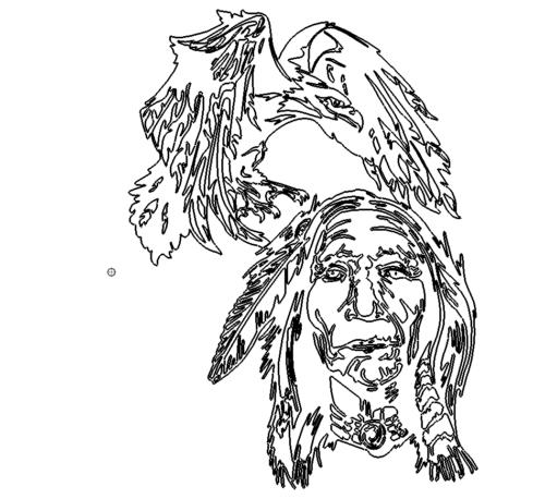 Adler Indianer - Eagle with Indianer