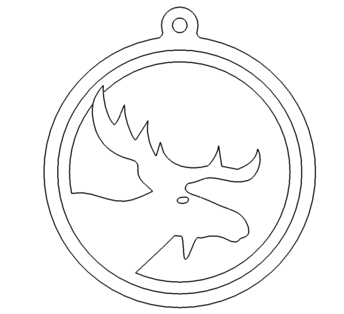 Schluesselanhaenger Elch - Keychains Moose