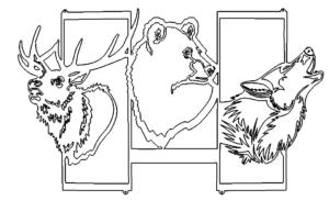 Bild mit Tieren - Picture with Animals
