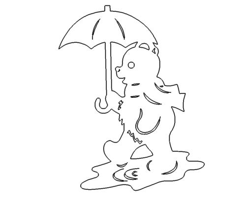 Bär mit Regenschirm - Bear with umbrella