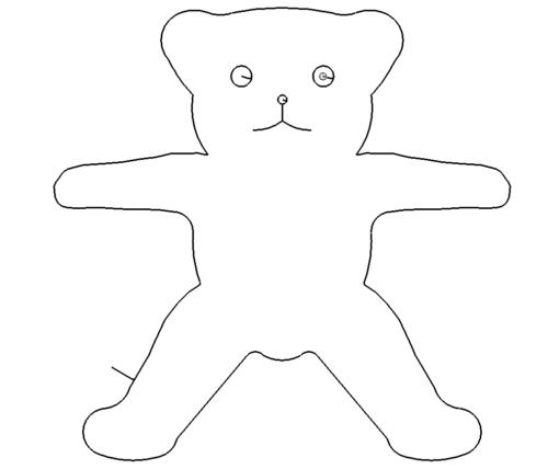 einfacher Bär - simple Bear