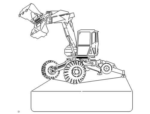Bagger als Schild - Excavator as a shield
