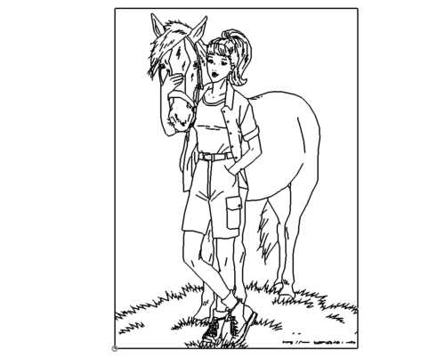 Kind mit Pferd - Child with Horse