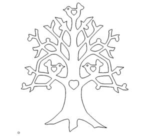 Liebesbaum mit Vögel - Tree of Love with Birds