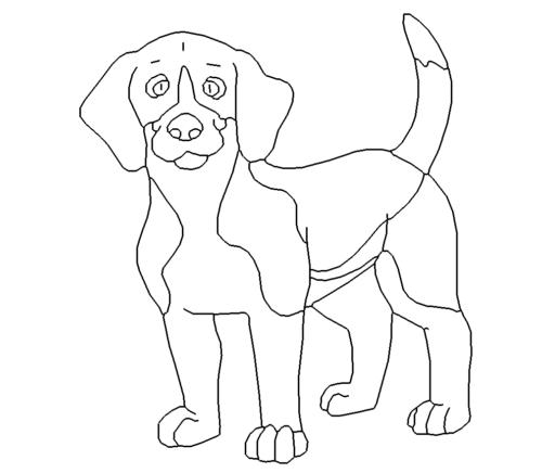 Süßer Hund Beagle - Sweet dog Beagle