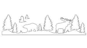 Bären und Mäuse Landschaft - Bear And Moose